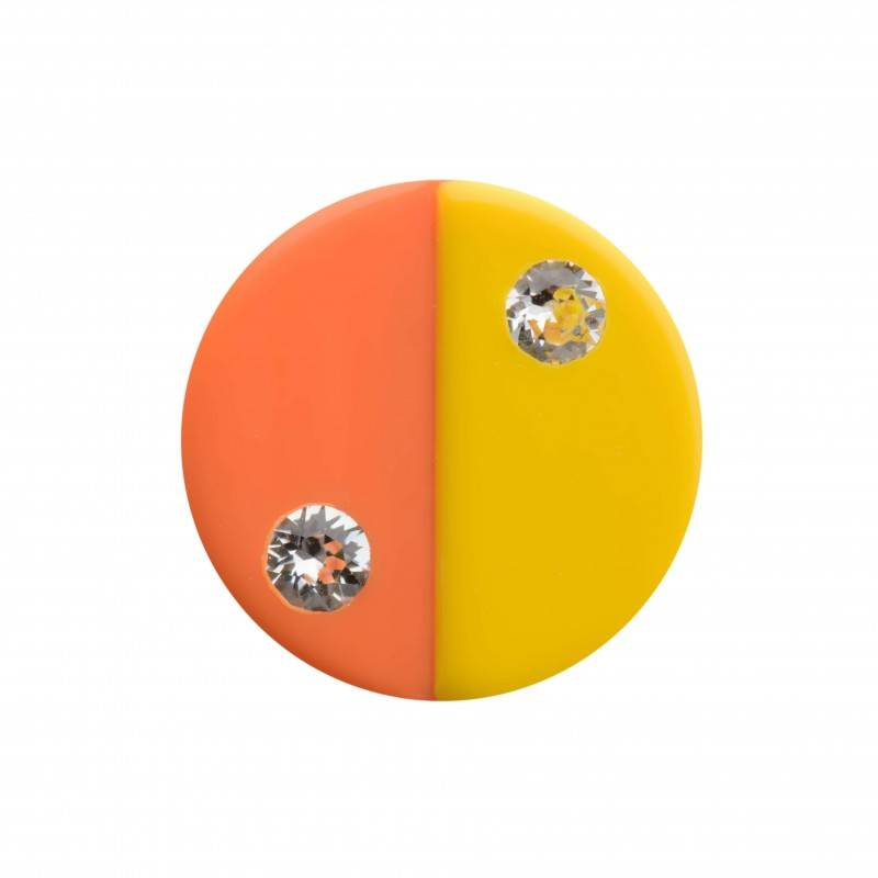 "Healthy fashion earring (1 pcs.) ""Tiny Yellow """
