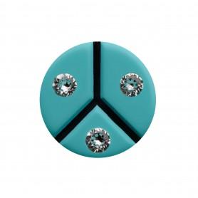 "Healthy fashion earring (1 pcs.) ""Three Turquoises"""