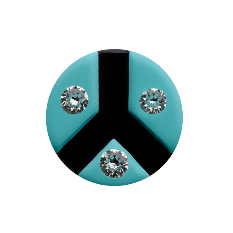 "Healthy fashion earring (1 pcs.) ""Threefold Turquoise"""