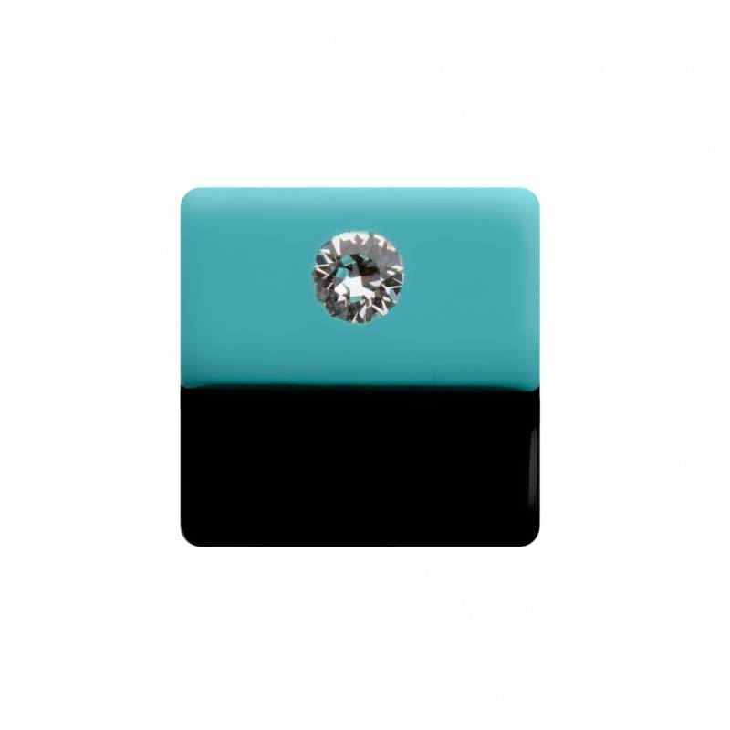 "Healthy fashion earring (1 pcs.) ""Turquoise Landscape"""