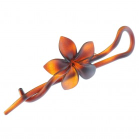 Medium size flower shape Hair pin in Brown