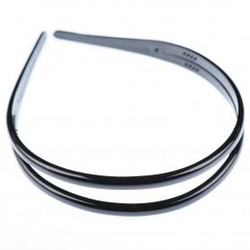 Medium size regular shape Headband in Black