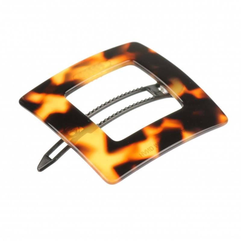 Small size rectangular shape Hair clip in Tokyo dark shiny finish