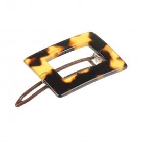 Small size rectangular shape Hair clip in Tokyo dark