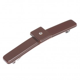 Small size rectangular shape Hair clip in Dark brown and old pink