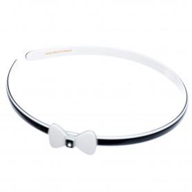 Medium size bow shape Headband in Black and white