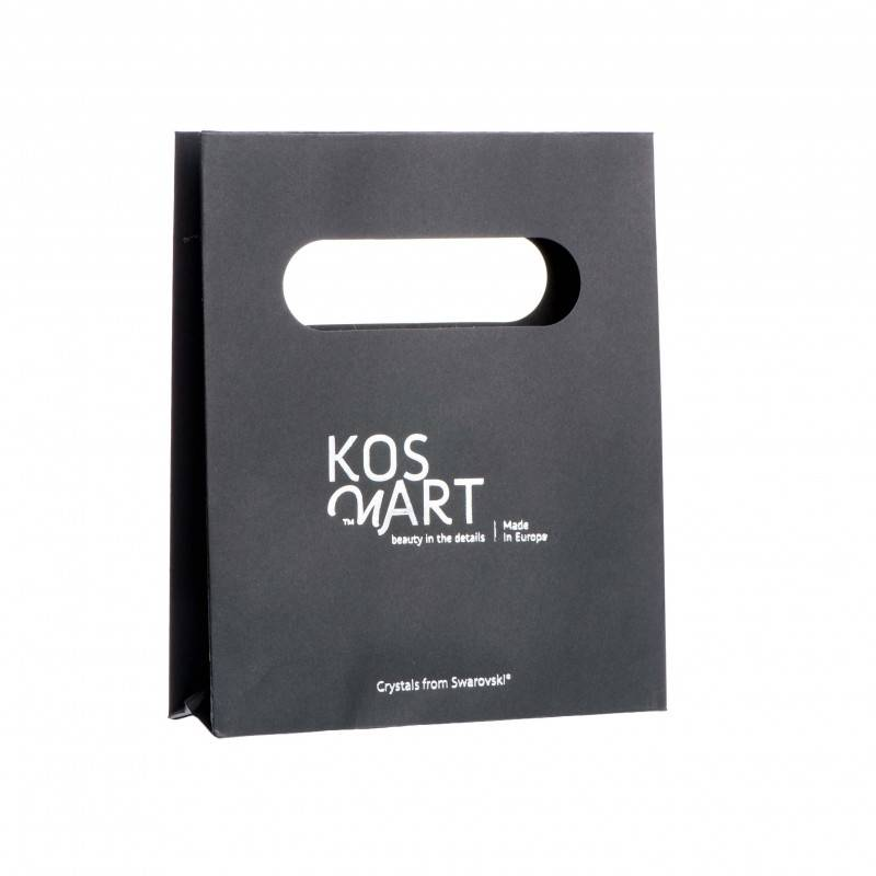 Black gift bag/ small / silver printing