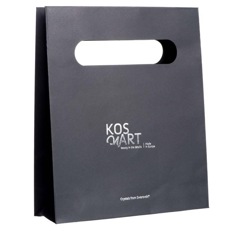 Black gift bag/ large / silver printing
