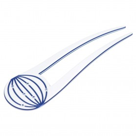 Medium size fork shape Hair pin in White and blue