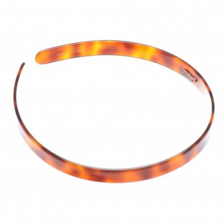 Medium size regular shape Headband in Tortoise shell