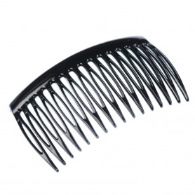 Medium size regular shape Hair side comb in Black