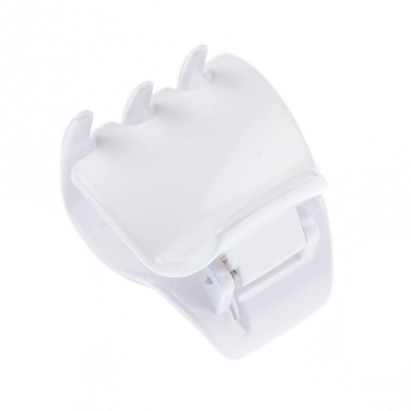 Small size regular shape Hair jaw clip in White shiny finish