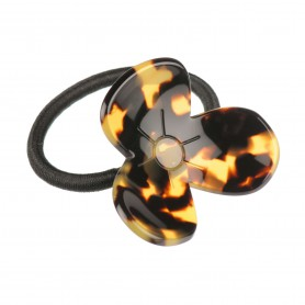 "French Made Pony Tail ""Amber flower"""