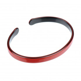 Medium size oval shape Bracelet in Marlboro red and black