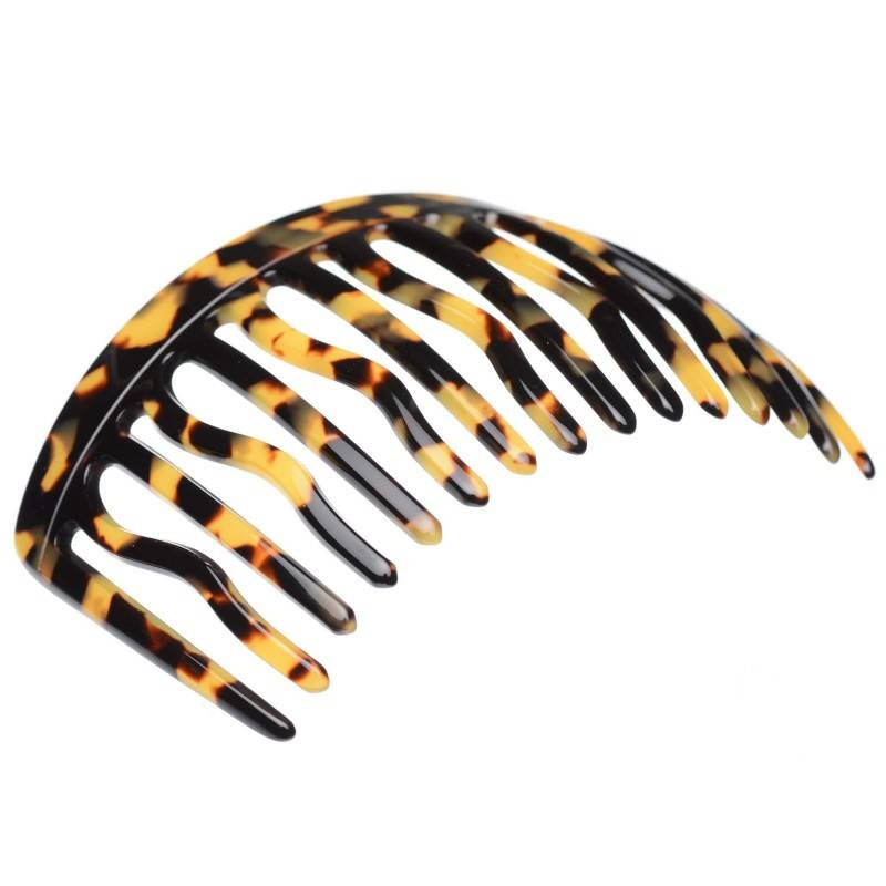 Large size regular shape Hair side comb in Tokyo dark shiny finish