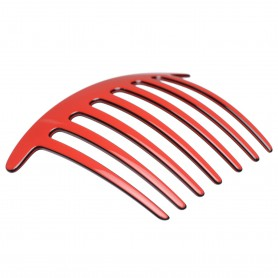 Large size regular shape Hair side comb in Marlboro red and black