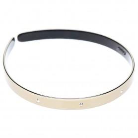Medium size regular shape Headband in Ivory and black