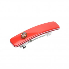 Small size rectangular shape Hair clip in Marlboro red and white