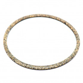 Large size round shape Bracelet in Gold glitter