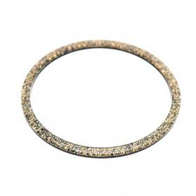 Medium size round shape Bracelet in Gold glitter