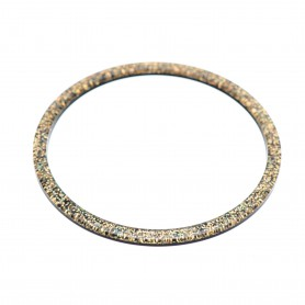 Medium size round shape Bracelet in Gold glitter