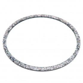 Large size round shape Bracelet in Silver glitter