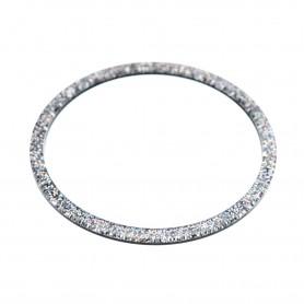 Medium size round shape Bracelet in Silver glitter