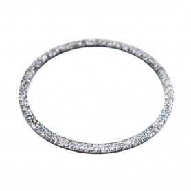 Medium size round shape Bracelet in Silver glitter