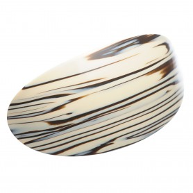 Very large size oval shape Hair barrette in Horn wood
