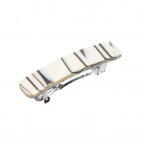 Small size rectangular shape Hair clip in Horn wood