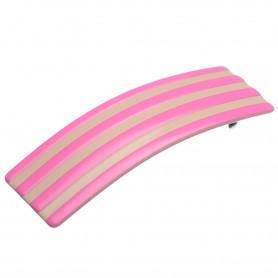 "Lithuanian made hairclip ""Pinky stripes"""
