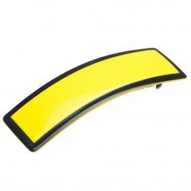 Medium size rectangular shape Hair barrette in Yellow and black