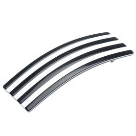 Medium size rectangular shape Hair barrette in Black and white