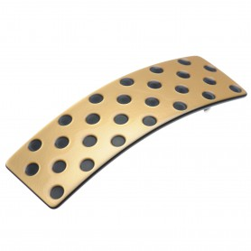 "Lithuanian made hairclip ""Golden dots"""
