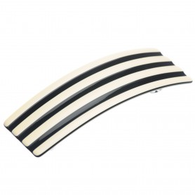 "Lithuanian made hairclip ""Beige stripes"""