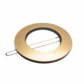 Small size round shape Hair clip in Gold and black