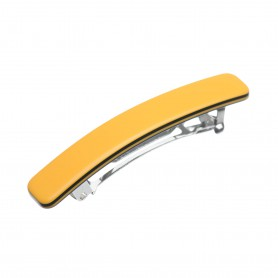 Small size rectangular shape Hair clip in Maize yellow and black