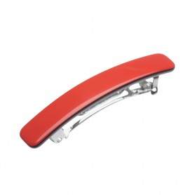 Small size rectangular shape Hair clip in Marlboro red and black