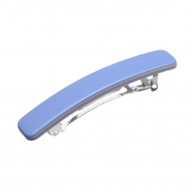 Small size rectangular shape Hair clip in Sky blue and hazel