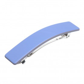 Medium size rectangular shape Hair barrette in Sky blue and hazel