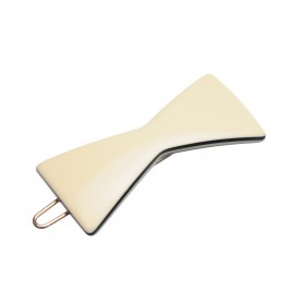 Small size bow shape Hair clip in Ivory and black