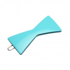 Small size bow shape Hair clip in Turquoise and black