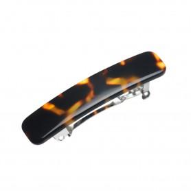 Small size rectangular shape Hair clip in Dark brown demi