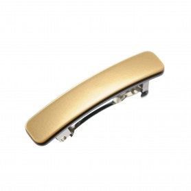 Small size rectangular shape Hair clip in Gold and black