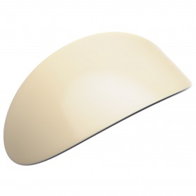 Extra large size oval shape Hair barrette in Ivory and black