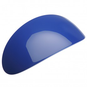 Extra large size oval shape Hair barrette in Blue and white