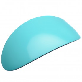 Extra large size oval shape Hair barrette in Turquoise and black