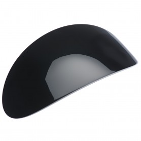 Extra large size oval shape Hair barrette in Black and white