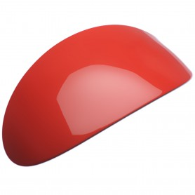 Extra large size oval shape Hair barrette in Marlboro red and black