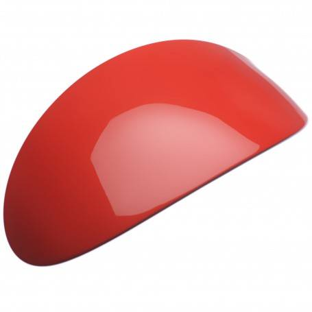 A Red Oval Barrette Hair Clip